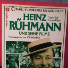 Libros de segunda mano: LIBRO LAS PELÍCULAS DE HEINZ RUHMANN (EN ALEMÁN) - HR UND SEINE FILME - JOE HEMBUS - CITADEL, 1982. Lote 130053694