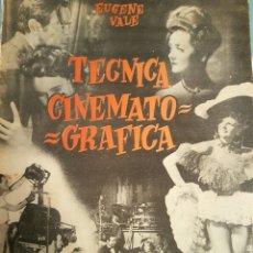 Libros de segunda mano: TÉCNICA CINEMATOGRÁFICA DE EUGENESIA VALE, EDITORIAL LEYENDA ,AÑO 1947. Lote 131044397