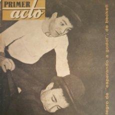 Libros de segunda mano: REVISTA DEL TEATRO ,PRIMER ACTO LA N 1 ABRIL 1957. Lote 131044811