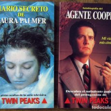 Libros de segunda mano: AUTOBIOGRAFIA DEL AGENTE COOPER Y DIARIO SECRETO DE LAURA PALMER - TWIN PEAKS - DAVID LYNCH - . Lote 131191340