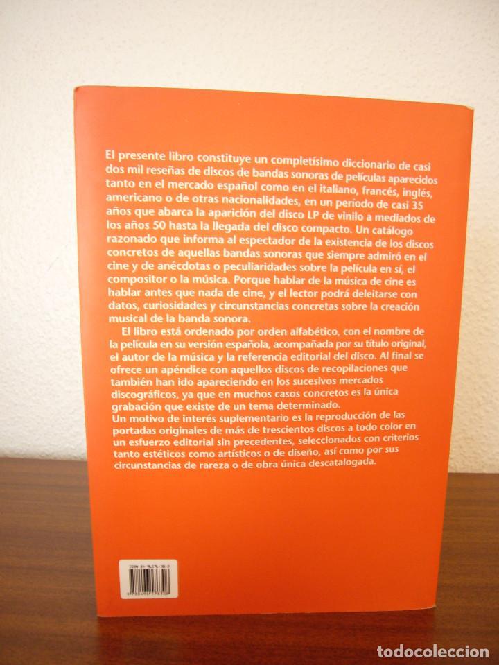 Libros de segunda mano: DICCIONARIO DE BANDAS SONORAS (T & B, 2007) JOAN PADROL. MUY BUEN ESTADO. RARO. - Foto 3 - 131577466