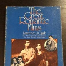 Libros de segunda mano: LIBRO CINE THE CREAT ROMANTIC FILMS. Lote 133415650