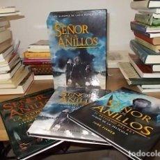 Libros de segunda mano: EL SEÑOR DE LOS ANILLOS .LOS ÁLBUMES DE LAS 3 PELÍCULAS + ESTUCHE. JUDE FISHER. MINOTAURO. 2001-03.. Lote 138068298