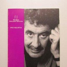 Libros de segunda mano: EL CINE DE DANIEL SCHMID, LA MÁSCARA Y EL ARTIFICIO, FILMOTECA GENERALITAT VALENCIANA, 1994. Lote 140338886