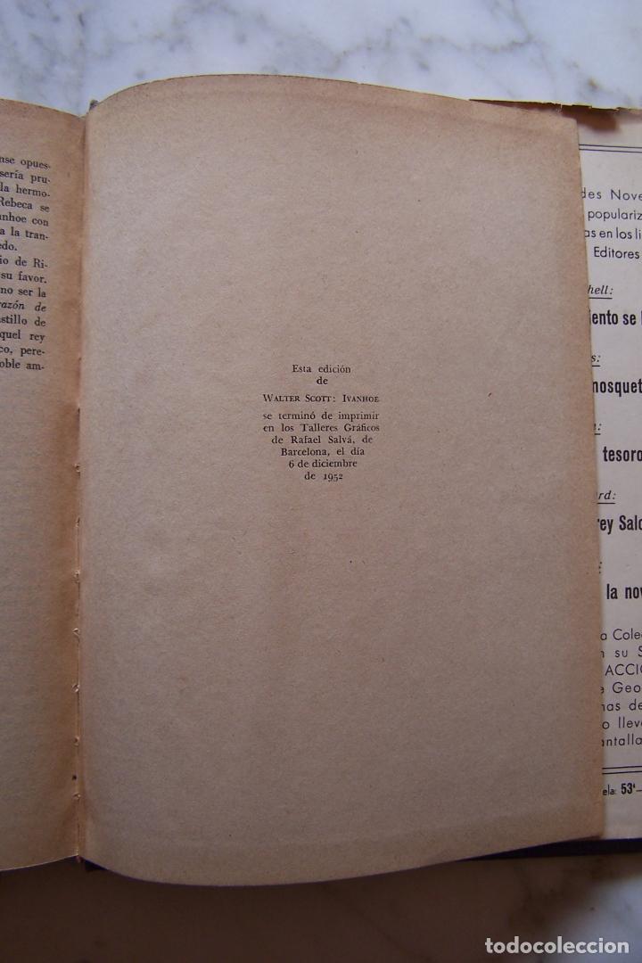 Libros de segunda mano: IVANHOE. WALTER SCOTT. AYMA EDITORES, 1952. - Foto 5 - 140765154