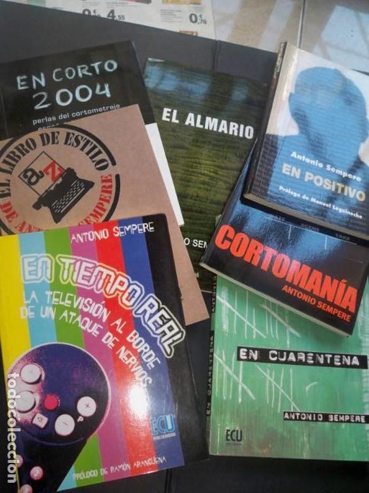 ANTONIO SEMPERE OBRAS CRITICO CINE Y TELEVISION ECU EDITORIAL CLUB UNIVERSITARIO ALICANTE (Libros de Segunda Mano - Bellas artes, ocio y coleccionismo - Cine)