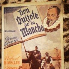 Libros de segunda mano: DON QUIJOTE DE LA MANCHA, DIRECCIÓN RAFAEL GIL, BIBLIOTECA CINE NACIONAL, SERIE ESPECIAL. Lote 146959389