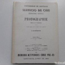 Libros de segunda mano: SERVICIO DE CINE.MEMORIA ACTIVIDADES CURSO 1982-83 Y92049. Lote 147994318