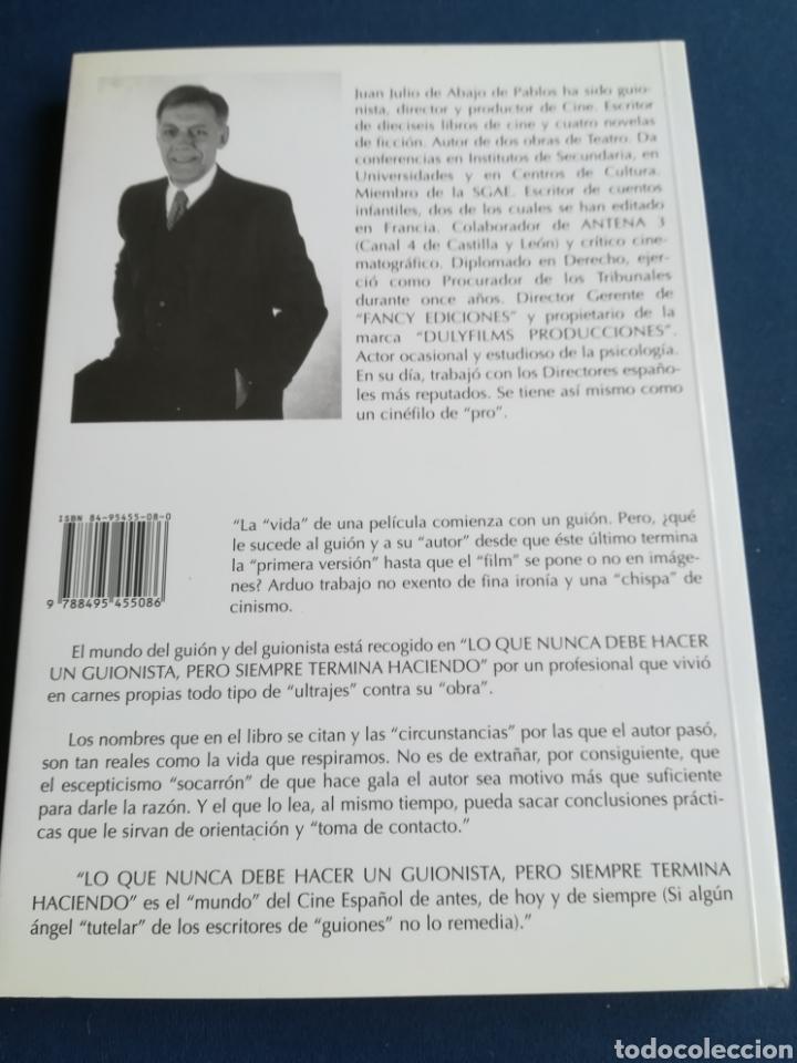 Libros de segunda mano: Lo que nunca debe hacer un guionista pero siempre termina haciendo por Juan Julio de Abajo de Pablo - Foto 2 - 149347948