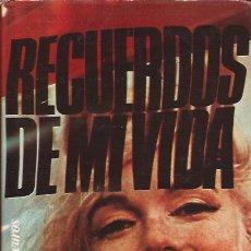 Libros de segunda mano: LIBRO DE CINE MARILYN MONROE RECUERDOS DE MI VIDA BIOGRAFIA. Lote 151592906