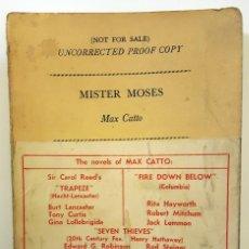 Libros de segunda mano: LIBRO MISTER MOSES (1961) DE MAX CATTO. LIBRO SIN CORREGUIR COMO GUIÓN PARA PELÍCULA.. Lote 151987662