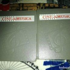 Libros de segunda mano: CINE & MÚSICA LAS OBRAS MAESTRAS DEL CINE VOLUMEN I Y II - SALVAT 1987. Lote 152185562