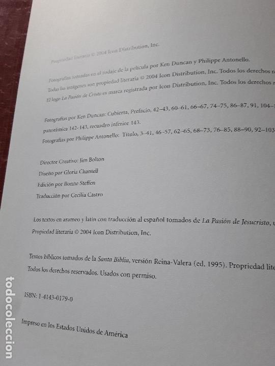 Libros de segunda mano: La Pasion. Fotografías tomadas durante el rodaje de la película de Mel Gibson. Excelente estado. Ra - Foto 2 - 152932794