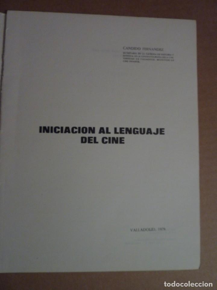Libros de segunda mano: INICIACIÓN AL LENGUAJE DEL CINE - Foto 3 - 154135550