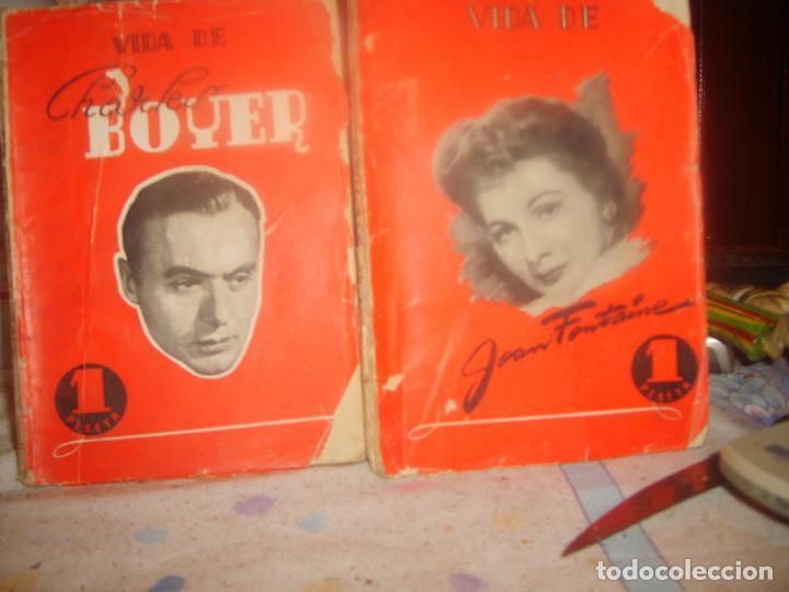 VIDA DE CHARLES BOYER 1 Y JEAN FONTAINE 2 POR ANTONIO LOSADA. ED. REGUERA 1944. PORTES GRATIS. (Libros de Segunda Mano - Bellas artes, ocio y coleccionismo - Cine)