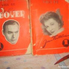 Libros de segunda mano: VIDA DE CHARLES BOYER 1 Y JEAN FONTAINE 2 POR ANTONIO LOSADA. ED. REGUERA 1944. PORTES GRATIS.. Lote 155507686