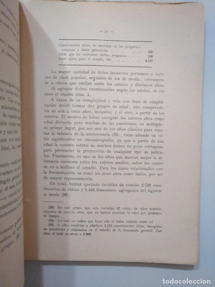 Libros de segunda mano: CINE Y JUVENTUD. - JUAN GARCÍA YAGÜE. INSTITUTO SAN JOSE DE CALASANZ. C.S.I.C. TDK379 - Foto 3 - 158675070