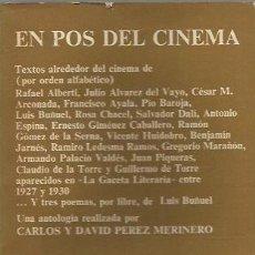 Libros de segunda mano: EN POS DEL CINEMA - V.V. A.A. - CUADERNOS ANAGRAMA - GCH. Lote 167511180