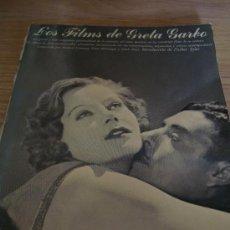 Libros de segunda mano: LIBRO DE LOS FILMS DE GRETA GARBO, TODO SOBRE SUS PELICULAS LIBRO DE LOS FILMS DE GRETA GARBO, TODO. Lote 168236688