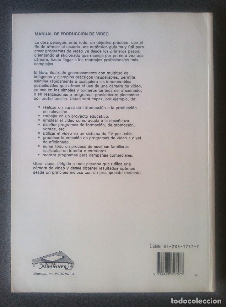 Libros de segunda mano: Manual de Producción de Video Gerald Millerson - Foto 2 - 168844596