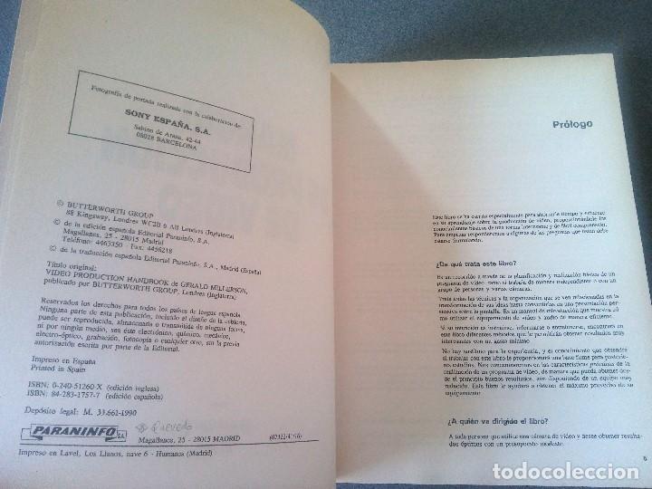 Libros de segunda mano: Manual de Producción de Video Gerald Millerson - Foto 4 - 168844596