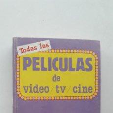 Livres d'occasion: TODAS LAS PELICULAS DE VIDEO / TV / CINE. 6.000 FICHAS. Lote 169720036