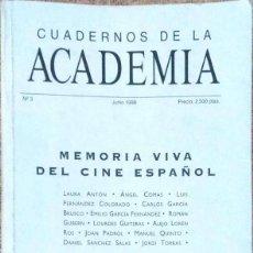 Libros de segunda mano: VV. AA. MEMORIA VIVA DEL CINE ESPAÑOL. MADRID. 1998.. Lote 169825652