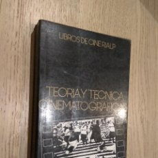 Libros de segunda mano: TEORÍA Y TÉCNICA CINEMATOGRÁFICAS. S. EISENSTEIN. 1989. Lote 169969012