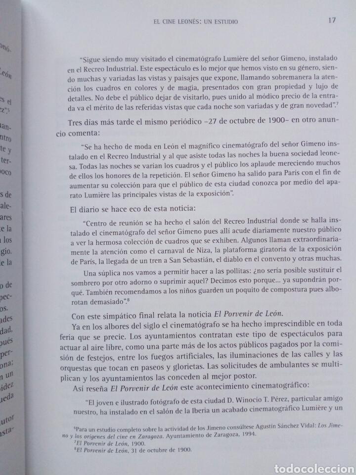 Libros de segunda mano: EL CINE LEONES, UN ESTUDIO (2005, Instituto Leonés de Cultura) - Juan Manuel Alvarez Benito ( León - Foto 2 - 170899470
