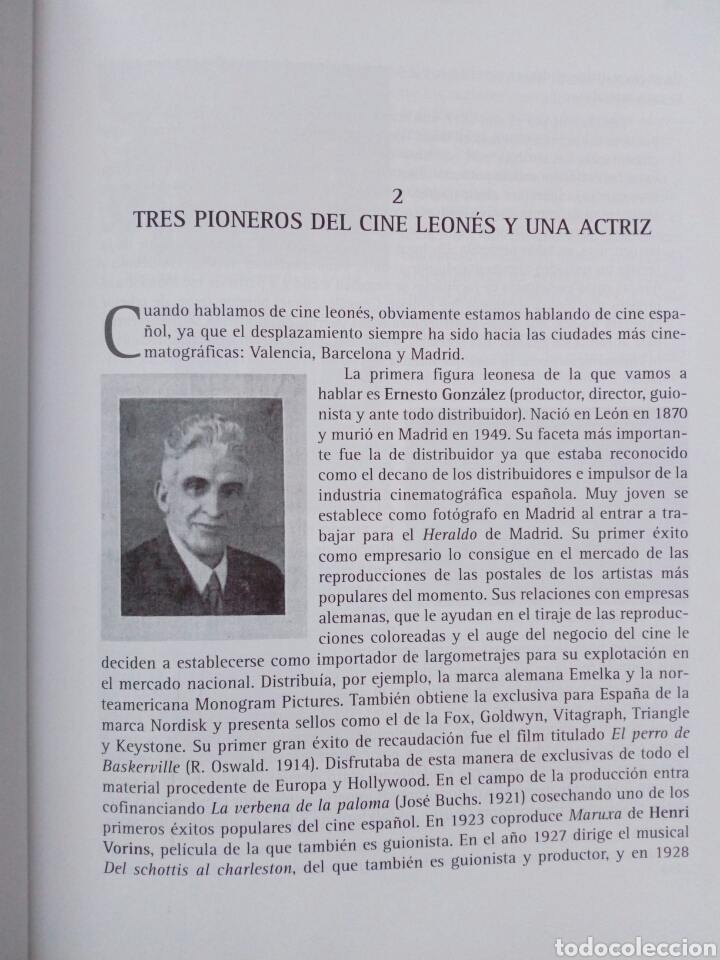 Libros de segunda mano: EL CINE LEONES, UN ESTUDIO (2005, Instituto Leonés de Cultura) - Juan Manuel Alvarez Benito ( León - Foto 3 - 170899470