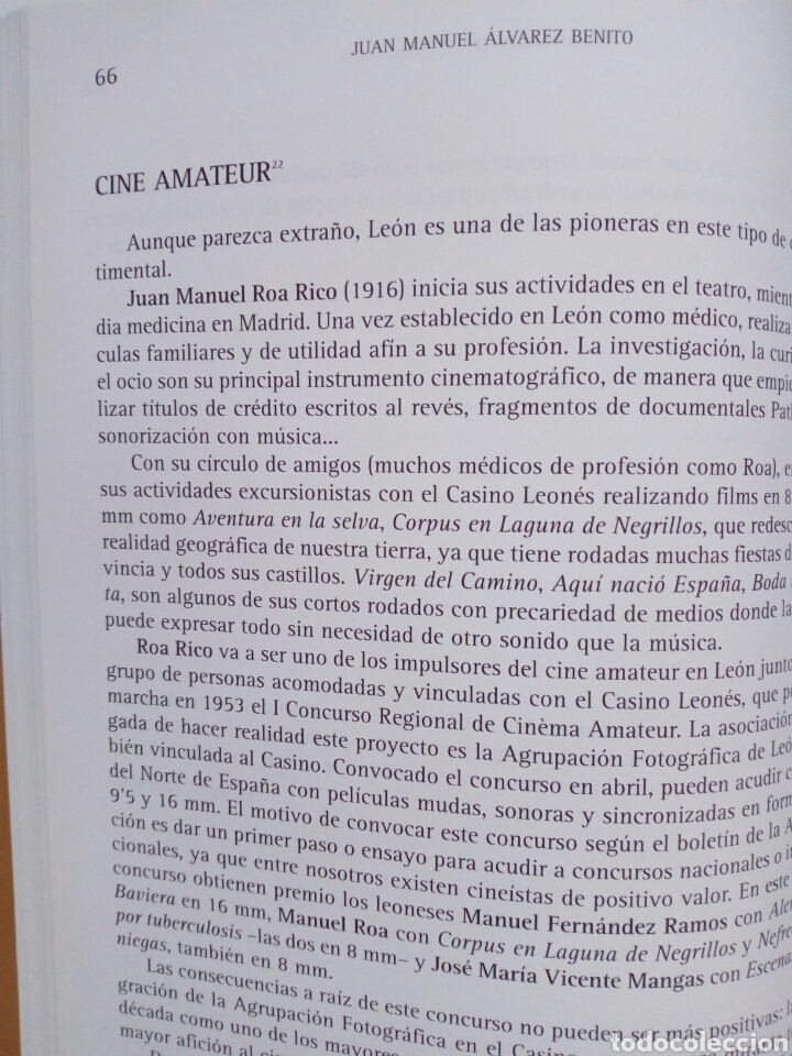 Libros de segunda mano: EL CINE LEONES, UN ESTUDIO (2005, Instituto Leonés de Cultura) - Juan Manuel Alvarez Benito ( León - Foto 5 - 170899470