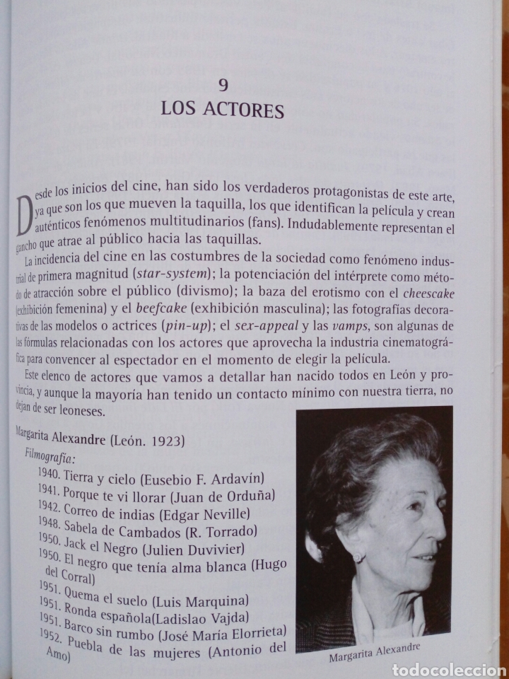 Libros de segunda mano: EL CINE LEONES, UN ESTUDIO (2005, Instituto Leonés de Cultura) - Juan Manuel Alvarez Benito ( León - Foto 6 - 170899470