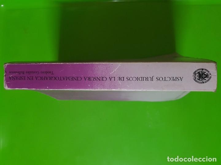 Libros de segunda mano: Aspectos Jurídicos de la Censura Cinematográfica en España (1936 - 1977) Teodoro Gonzlez Ballesteros - Foto 5 - 172033835