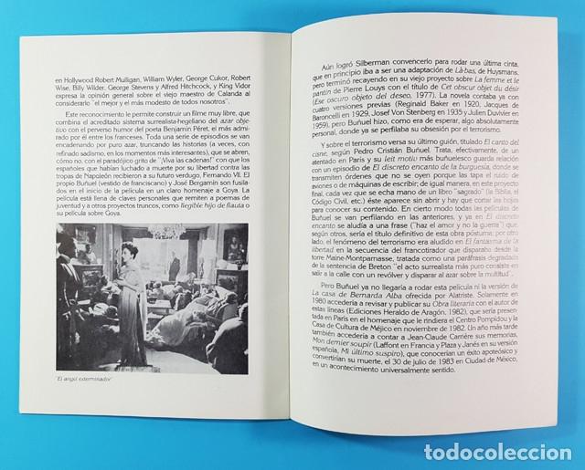 Libros de segunda mano: ARAGON EN HOMENAJE A LUIS BUÑUEL. OCTUBRE 1983 DIPUTACION GENERAL DE ARAGON 28 PAGINAS - Foto 3 - 172701697