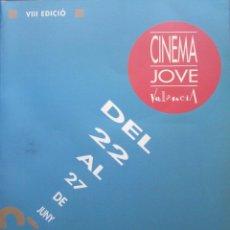 Libros de segunda mano: VIII EDICIÓN CINEMA JOVE DE VALENCIA. Lote 176867312