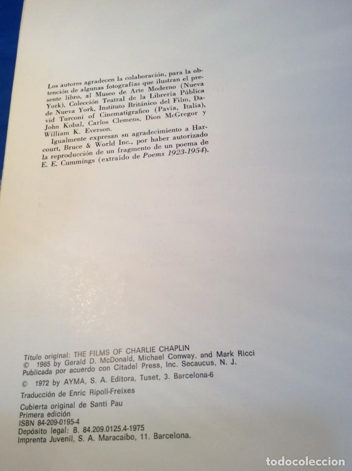 Libros de segunda mano: LOS FILMS DE CHARLIE CHAPLIM - AÑO 1975 - (VER FOTOS) - Foto 4 - 177040883