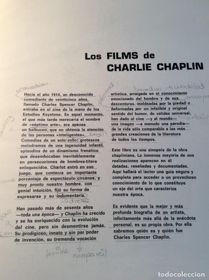 Libros de segunda mano: LOS FILMS DE CHARLIE CHAPLIM - AÑO 1975 - (VER FOTOS) - Foto 6 - 177040883