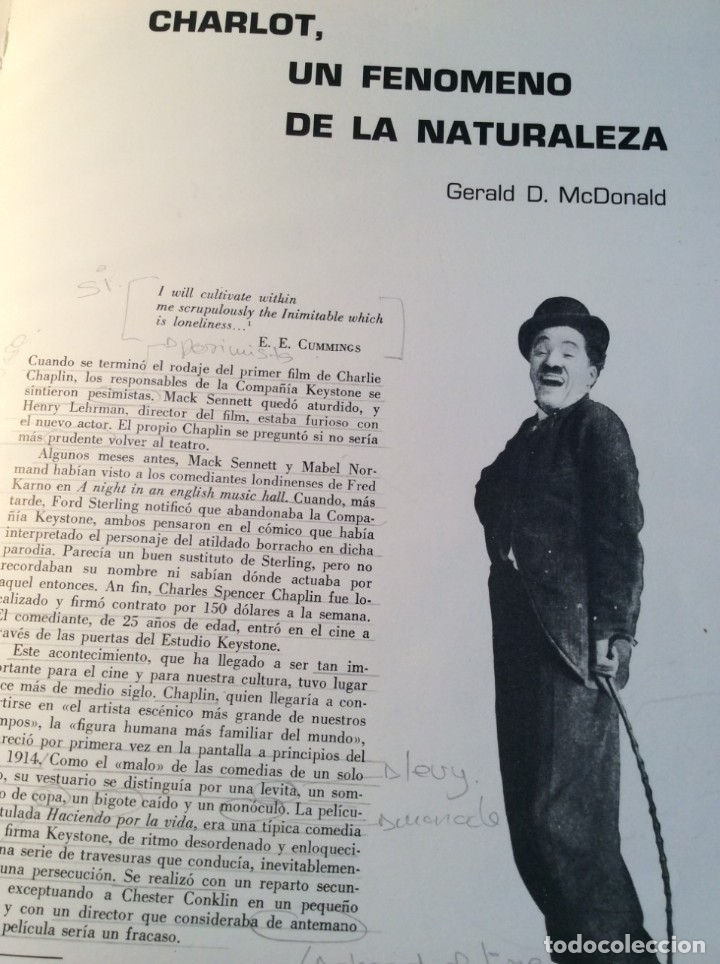 Libros de segunda mano: LOS FILMS DE CHARLIE CHAPLIM - AÑO 1975 - (VER FOTOS) - Foto 8 - 177040883