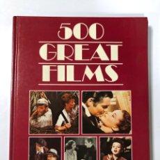 Libros de segunda mano: 500 GREAT FILMS. DANIEL & SUSAN COHEN. BISON BOOKS. MADRID, 1987. PAGS: 256. Lote 177862498