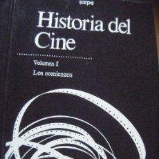Libros de segunda mano: HISTORIA DEL CINE SARPE. VOLUMEN I LOS COMIENZOS. Lote 179396991