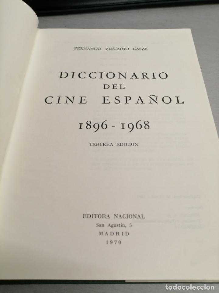 Libros de segunda mano: DICCIONARIO DEL CINE ESPAÑOL (1896 - 1968) / FERNANDO VIZCAÍNO CASAS / EDITORA NACIONAL 1970 - Foto 2 - 180409828