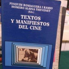Libros de segunda mano: TEXTOS Y MANIFIESTOS DEL CINE. CATEDRA 1990. Lote 184311406