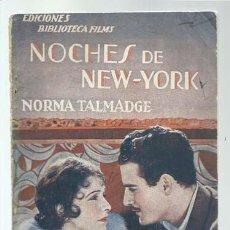 Libros de segunda mano: NOCHES DE NEW-YORK, BIBLIOTECA FILMS, BUEN ESTADO. COLECCIÓN A.T.. Lote 186343057