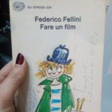 Libros de segunda mano: FEDERICO FELLINI: FARE UN FILM. Lote 187369635