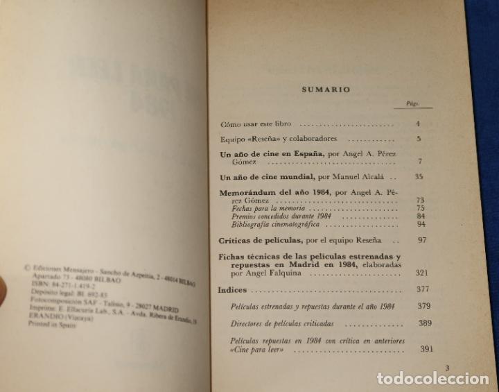 Libros de segunda mano: Cine para leer 1984 - Editorial Mensajero (1985) - Foto 2 - 189374242