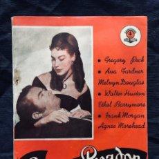 Libros de segunda mano: EDICIONES BISTAGNE EL GRAN PECADOR ROBERT SIODMAK GREGORY PECK AVA GARDNER SERIE TRIUNFO. Lote 189578200