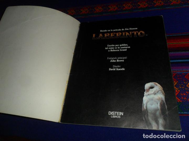 Libros de segunda mano: LABERINTO BASADO EN EL FILM DE JIM HENSON CON DAVID BOWIE. 1986 TIMUN MAS DÍSTEIN LIBROS. RARO. - Foto 2 - 190141745