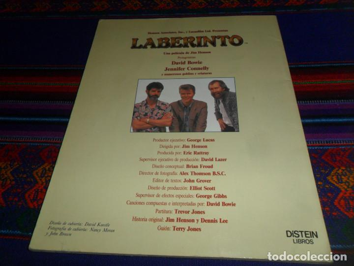 Libros de segunda mano: LABERINTO BASADO EN EL FILM DE JIM HENSON CON DAVID BOWIE. 1986 TIMUN MAS DÍSTEIN LIBROS. RARO. - Foto 6 - 190141745