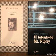 Libros de segunda mano: PERFILES WOODY ALLEN/ EL TALENTO DE MR. RIPLEY. Lote 190526807