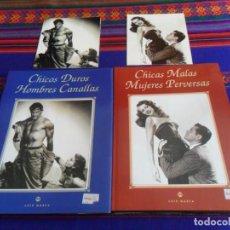 Libros de segunda mano: CHICAS MALAS MUJERES PERVERSAS, CHICOS DUROS HOMBRES CANALLAS. LUIS GASCA 1994 1995 CON REGALO.. Lote 235617110